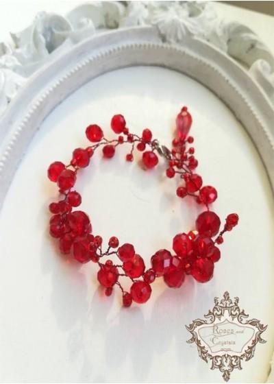 Гривна за бал и сватба в червено - Goddess Astarte