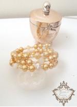 Кристална гривна за абитуриентка в цвят златно модел Classy Look Gold by Rosie