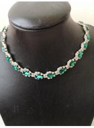 Колие с изумрудено зелени кристали Emerald Green