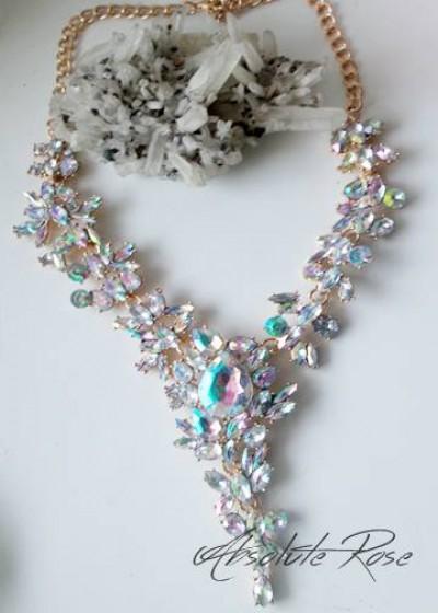 Луксозно колие с кристали с АБ ефект Melinda