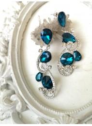 Изящни кристални обици в тюркоазено Turquoise Beauty