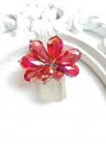 Дизайнерски пръстен с кристали Сваровски в цвят огнен опал модел Coral Queen by Rosie