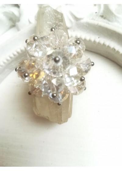 Уникален пръстен с кристали Сваровски с АБ ефект Perfectly Clear by Rosie