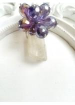 Кристален пръстен в лилаво модел Violet Flower by Rosie