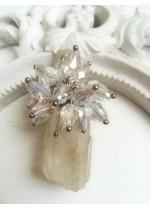 Нежен дизайнерски пръстен с кристали Сваровски с АБ ефект Water Magic by Rosie