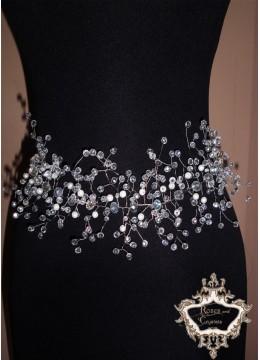 Ръчно изработен колан за официална рокля Crystal Sparks