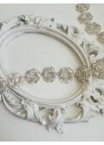 Луксозен колан с кристали Сваровски Fleur de la lune by Atelier Roses and Crystals