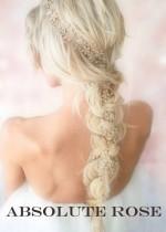 Дълги ръчно изработени кристални украси за коса за сватба и бал