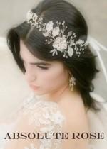 Комплекти кристални украси за коса и бижута